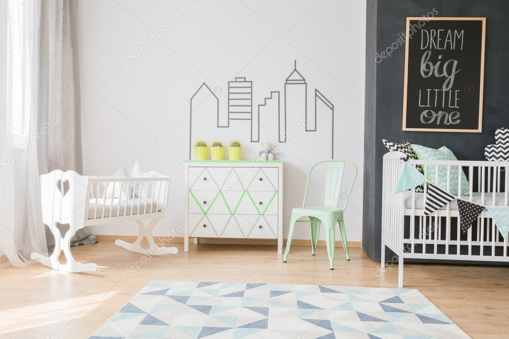 Pastel kleuren in de kamer van uw baby u stockfoto photographee
