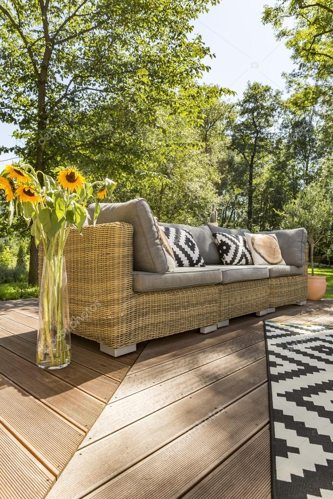 Schöne Villa Terrasse Idee — Stockfoto © photographee.eu ...