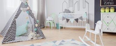 Baby room in scandinavian style idea
