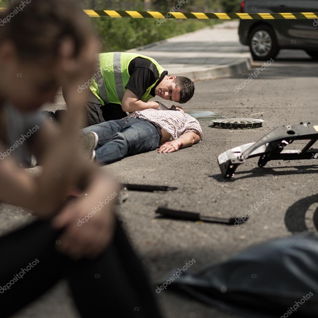 Road accident scene — Stock Photo © photographee.eu #122643692