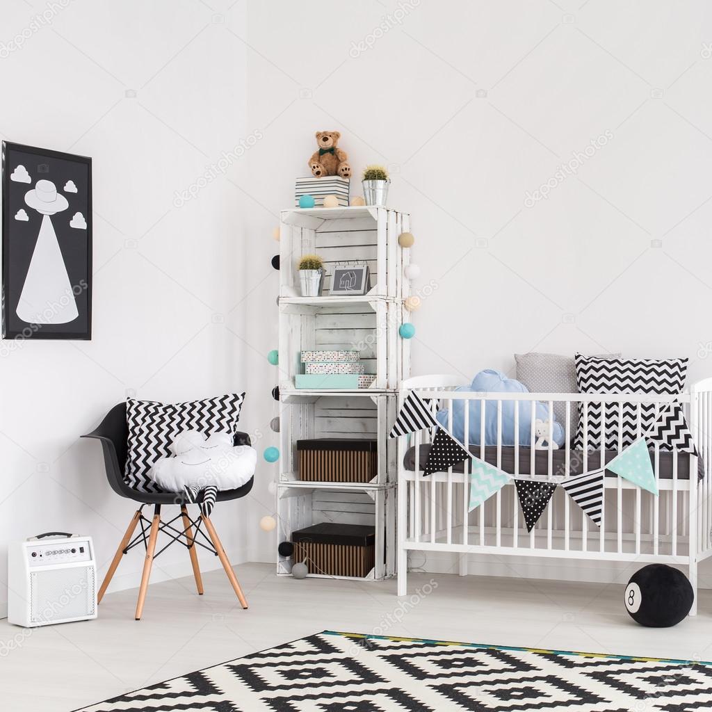 Modernes Babyzimmer gemütlichkeit ist das wichtigste stockfoto photographee eu