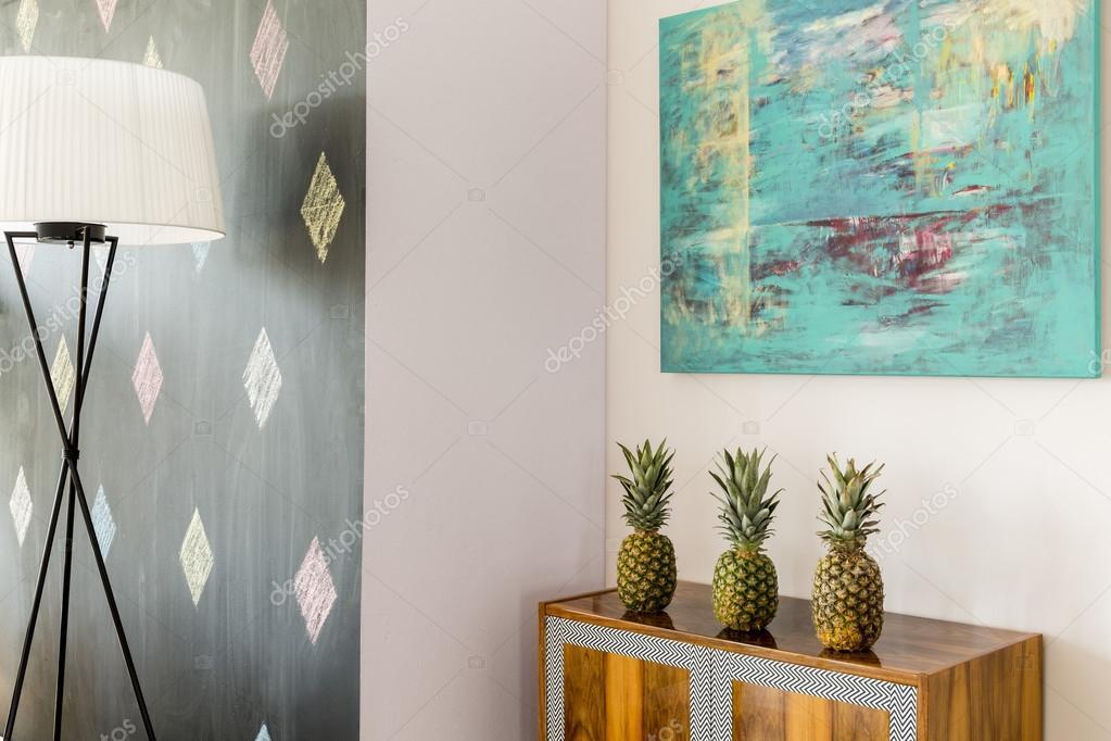 Ananas uit te werken perfect als decoratie u stockfoto