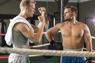 Members of the boxing club