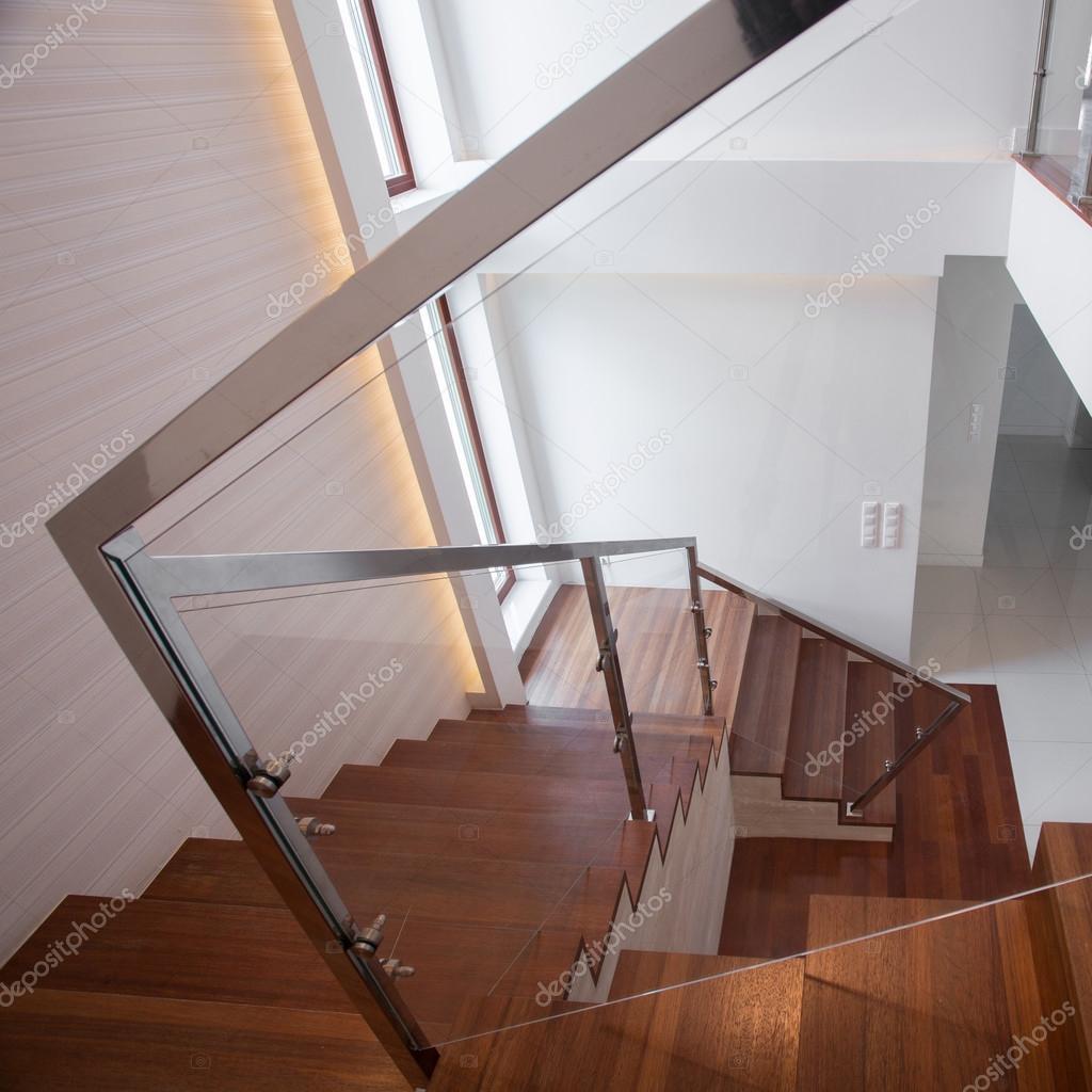 Exklusives Und Modernes Design Der Hölzernen Treppen U2014 Foto Von  Photographee.eu