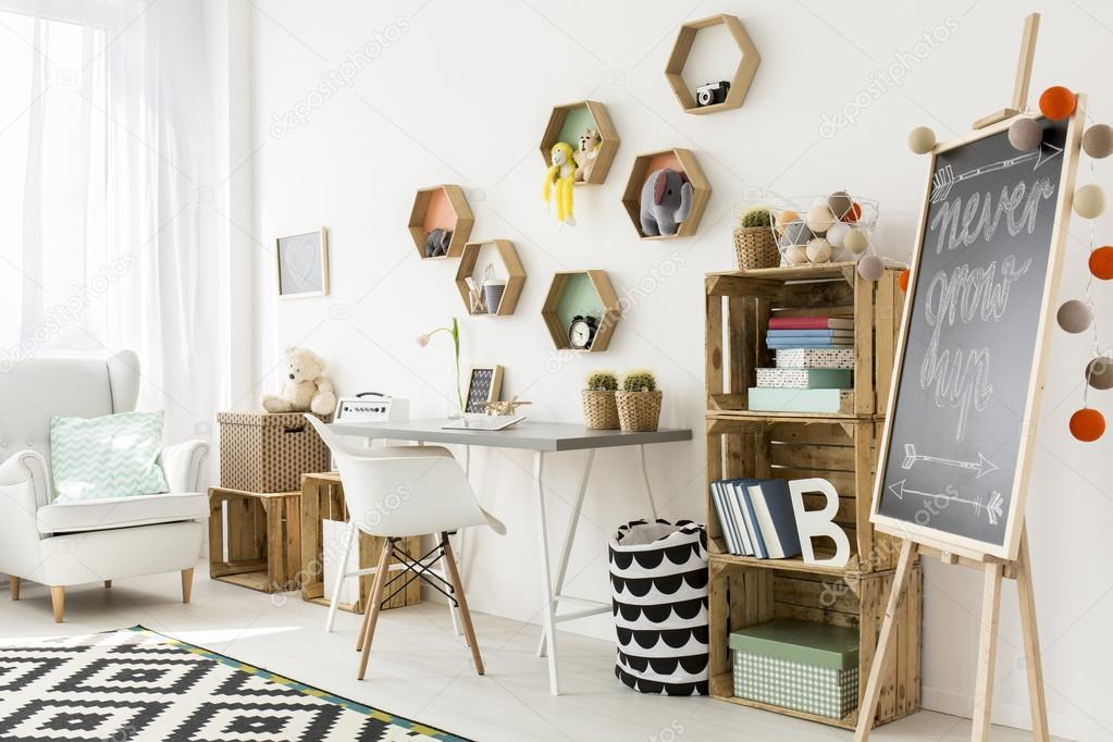 Charmant en modern kind kamer u stockfoto photographee eu