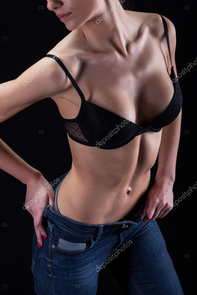 Girl hot sexy pic Hot Sexy Girl In Bra And Jeans Stock Photo By C Photographee Eu 52249999