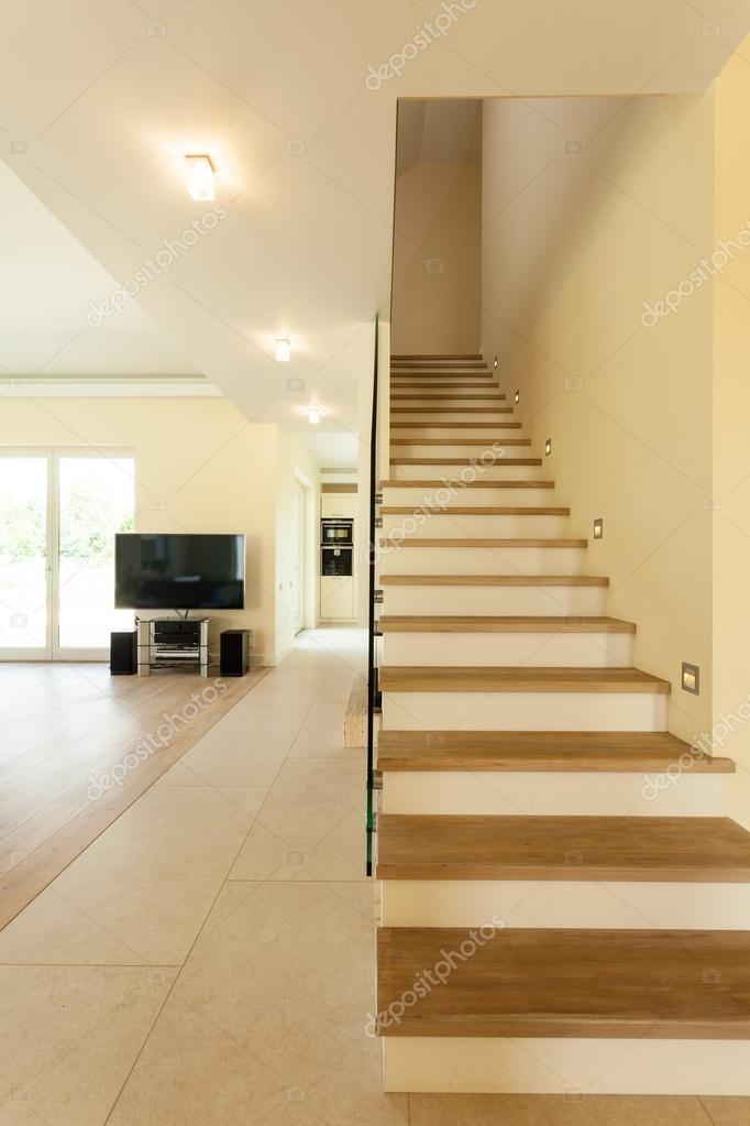 Escaleras de casa modernas escalera iluminada en casa - Fotos de escaleras modernas ...