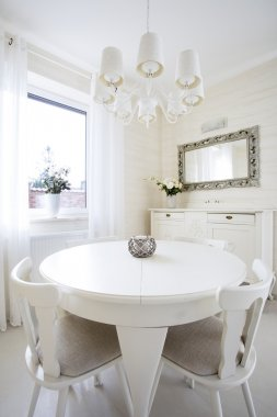 Round table in classic living room