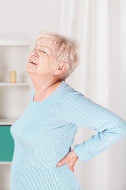 Grandpa suffering from back pain
