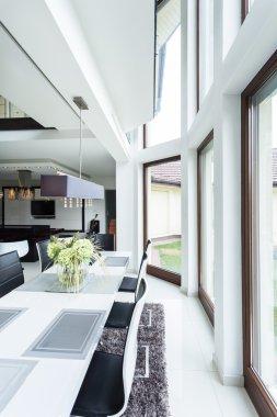 Dinning room in luxury apartment