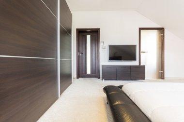 Luxury bedroom in modern design