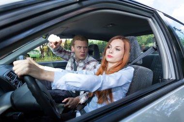 Man mad at woman driver