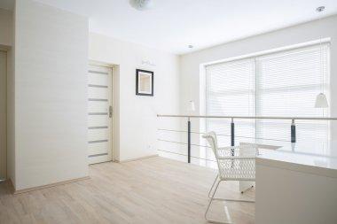 Bright corridor on mezzanine floor