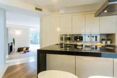 Spacious kitchen in modern apartment
