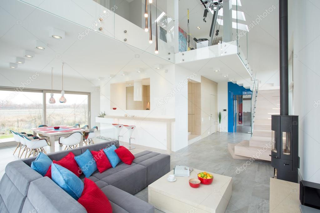 Modern interieur met kleur elementen u stockfoto photographee eu