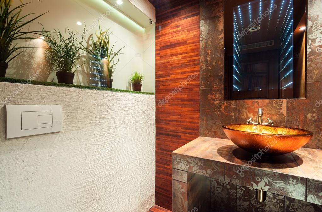 Modern Bathroom In Expensive House Stock Photo