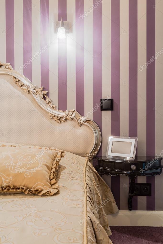 Interno camera da letto stile barocco — Foto Stock ...