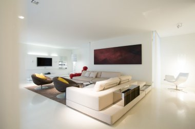 Living room in pure residence