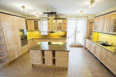 Marble worktop inside the kitchen