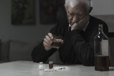 Elderly man addicted