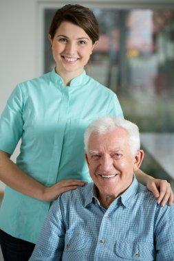 Senior man needing welfare service