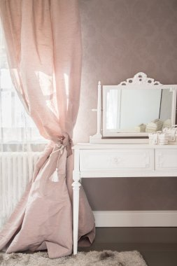 Dressing table in a bedroom