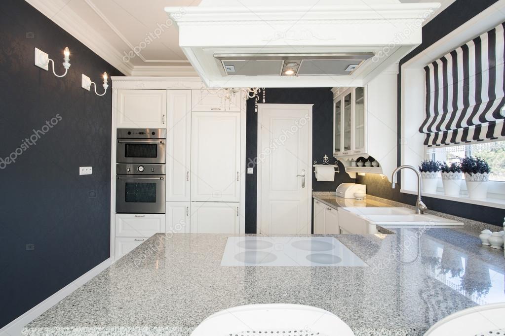 Marmurowy Blat W Kuchni Drogie Zdjęcie Stockowe