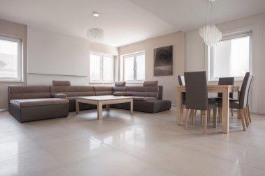 Exclusive interior in beige design
