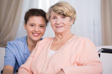 Senior woman and young nurse