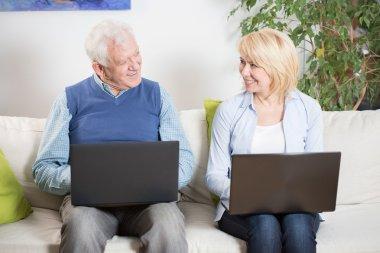 Elderly people satisfied with their jobs