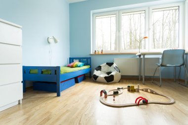 Cute blue kids room