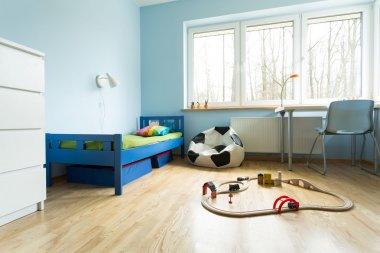 Cute blue kids room