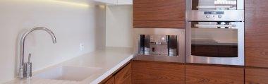 White and brown luxury kitchen