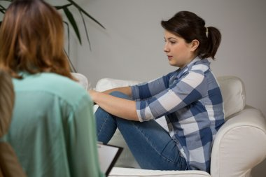 Women at psychotherapist