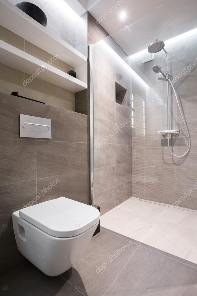 Beige toilet interieur — Stockfoto © photographee.eu #71745875