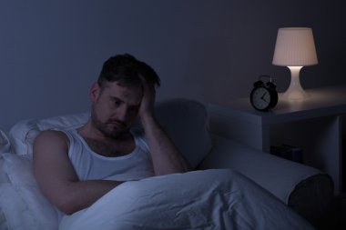 Man suffering from sleeplessness