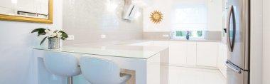Designer white kitchen