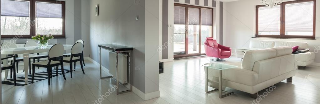 Wohnzimmer Mit Essecke U2014 Stockfoto