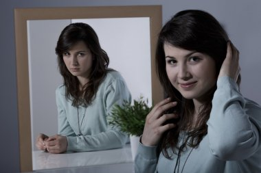 Woman with psychiatric disorder