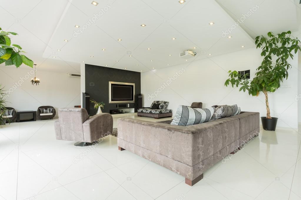 Modernes Interieur riesigen Villa — Stockfoto © photographee.eu ...