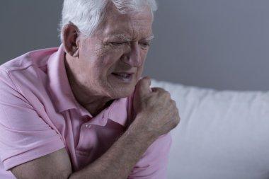 Senior with shoulder pain