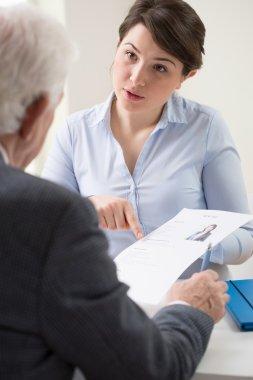 Discussing a job application