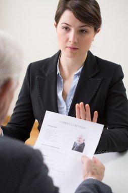 Woman during enrolment