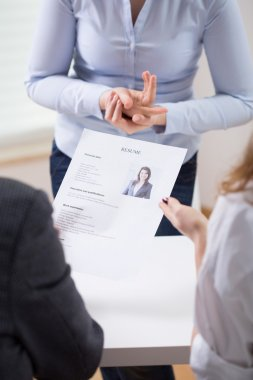 Employers looking at a resume
