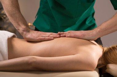 Physiotherapist doing massage