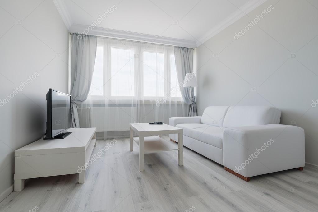 Weiße Wohnzimmer Gestaltung U2014 Stockfoto
