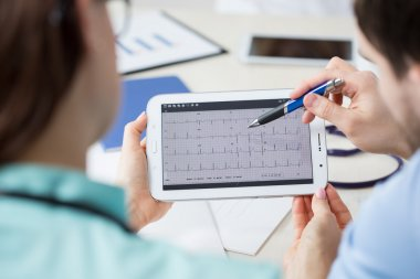 Analyzing electrocardiogram on a tablet