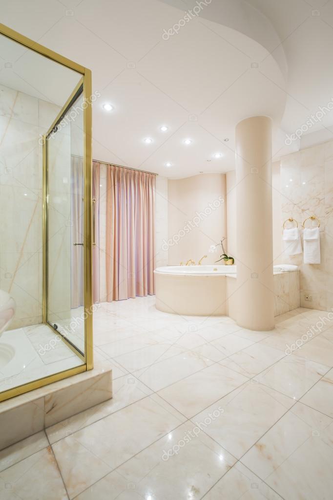 Ekskluzywne łazienki Przestronne Wnętrze Zdjęcie Stockowe