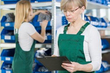 Working women in factory