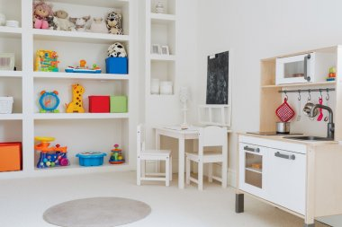 Beautiful toys in child's room